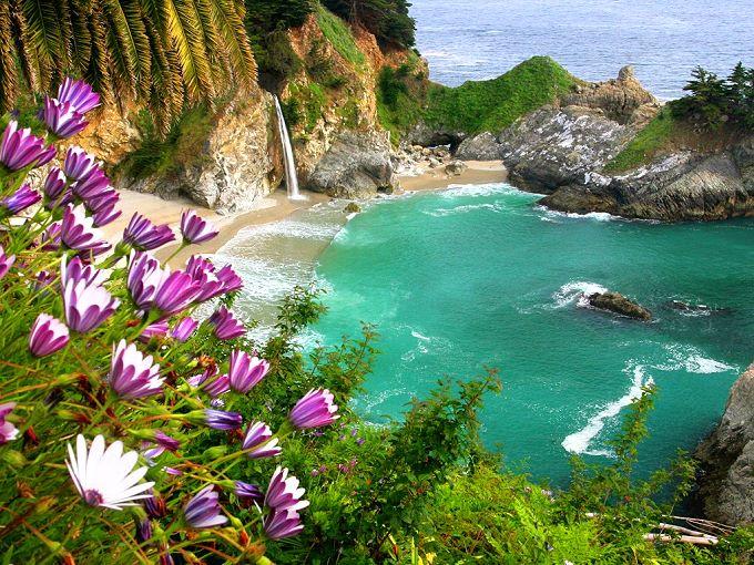 Photo de plage de Julia Pfeiffer Big Sur, Californie Pacifique