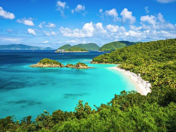Photo de plage Trunk Bay, St John, îles vierges USA, Caraïbes