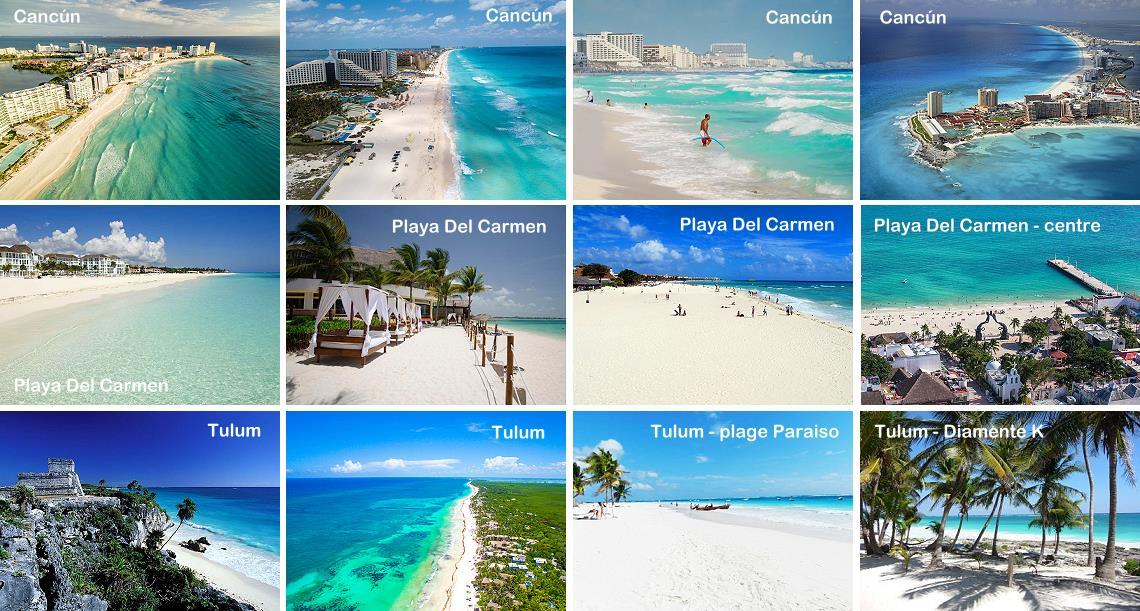 Plus belles plages de Cancun Playa del Carmen et Tulum au Mexique