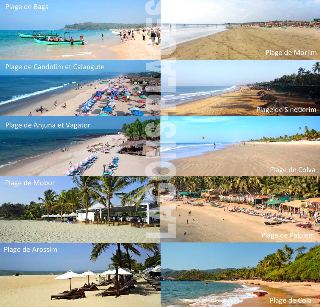 Belles plages de Goa en Inde