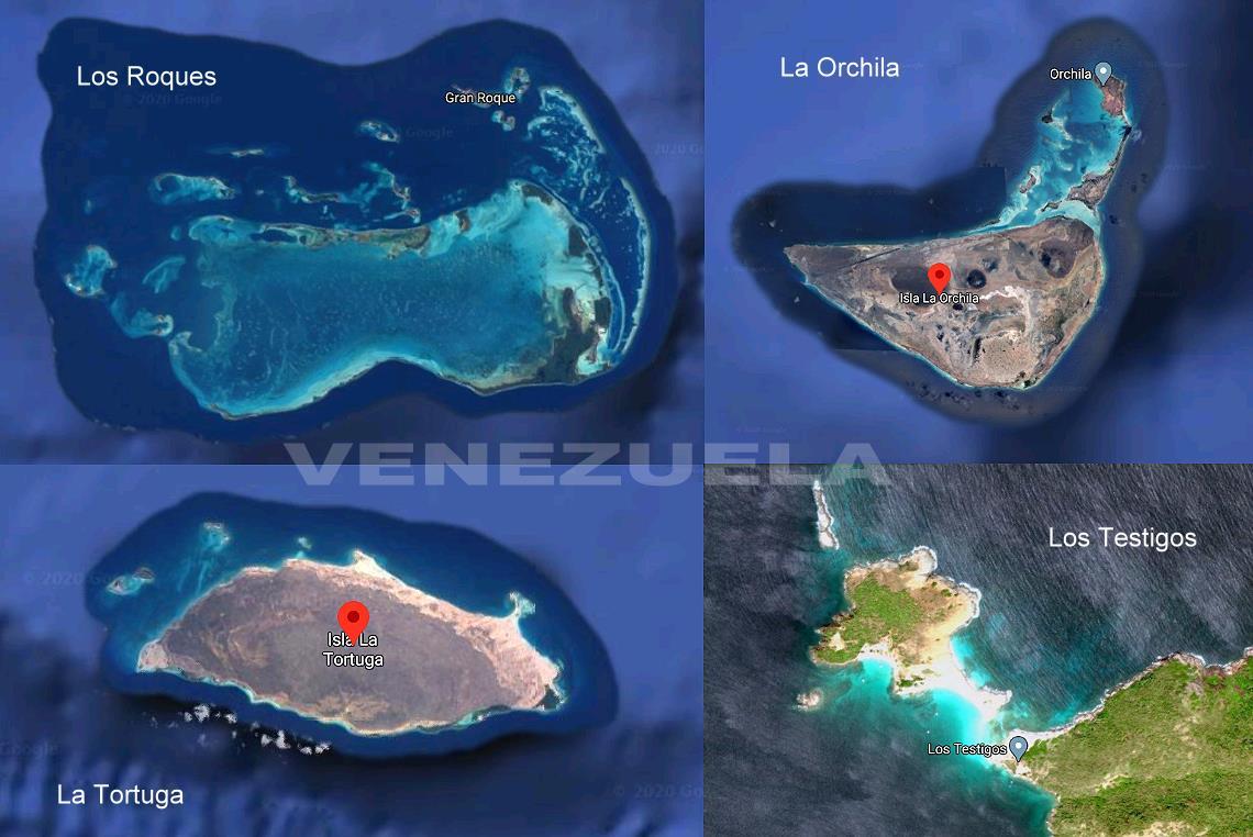 Los Roques, La Tortuga, l'archipel Los Testigos, La Orchila îles du Venezuela