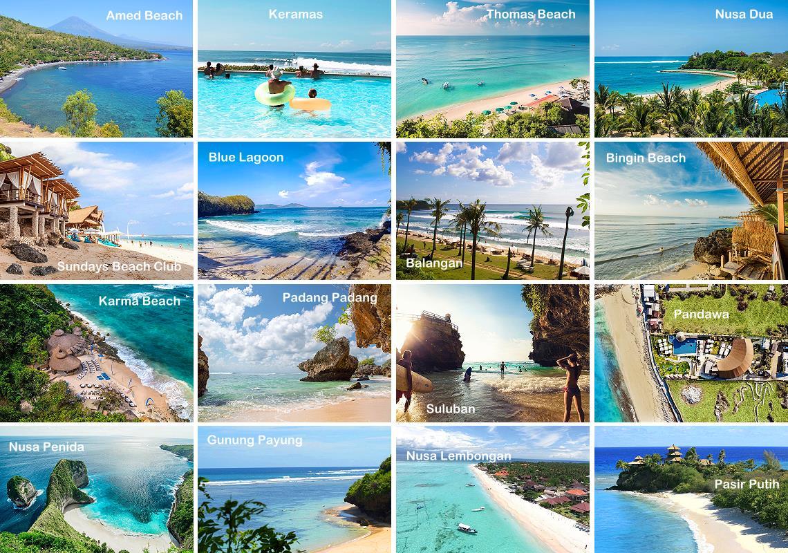 Plus belles plages de Bali en Indonésie