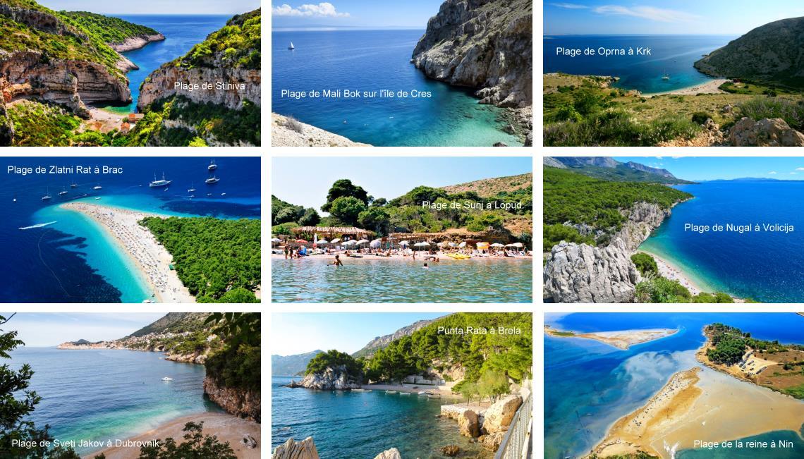 Les plus belles plages de Croatie, Dalmatie
