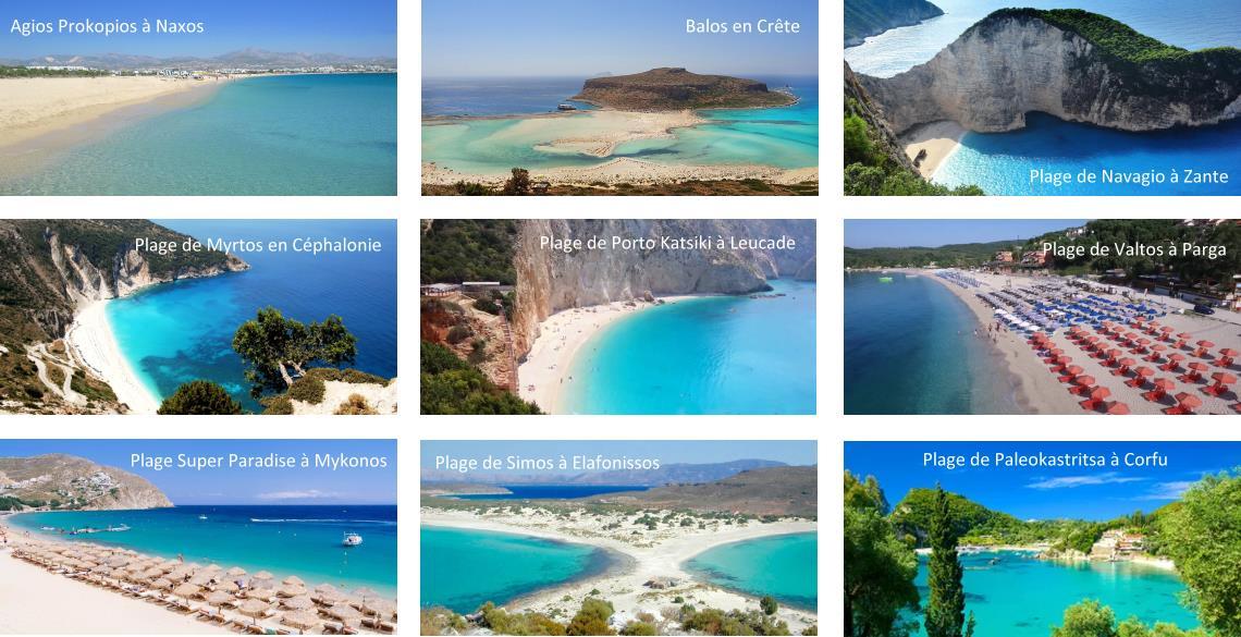 Les plus belles plages de Grèce, Crête, Corfou, Mykonos, Zante
