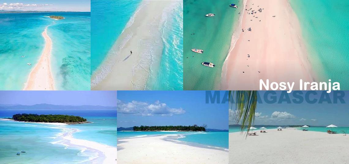 Belles plages de Nosy Iranja à Madagascar