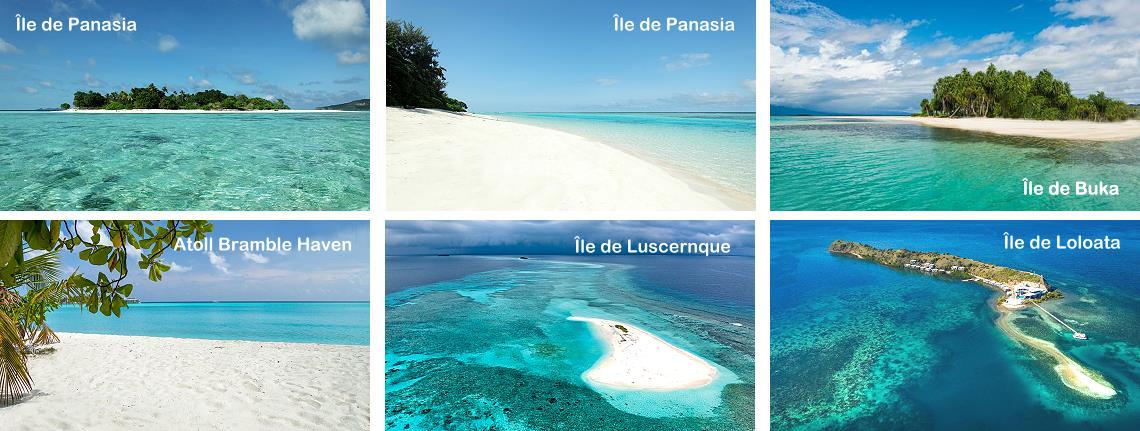 Plus belles plages et îles de Papouasie Nouvelle-Guinée