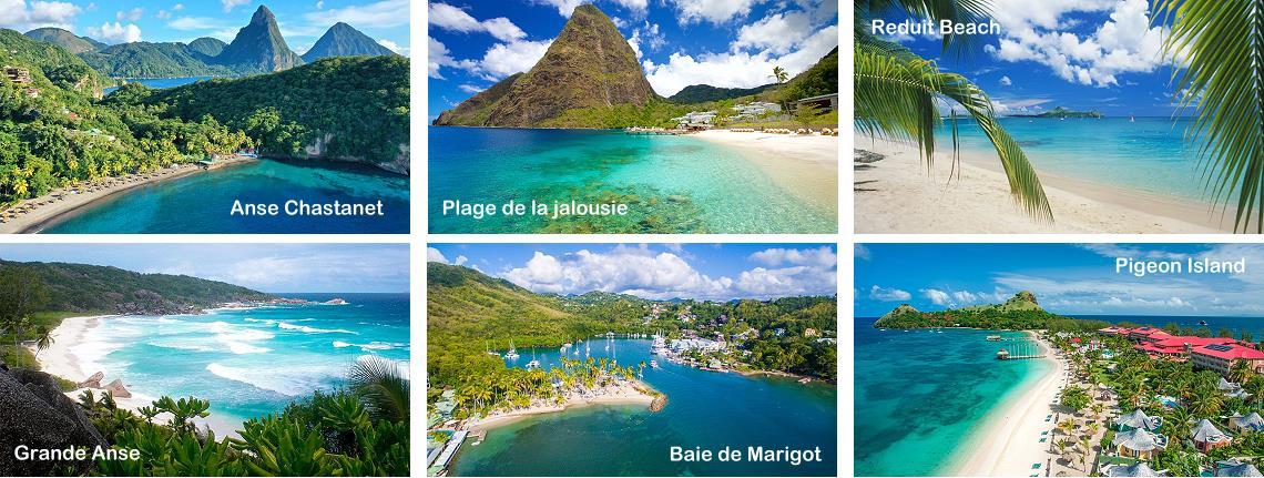 Sainte-Lucie, les plus belles plages des Antilles