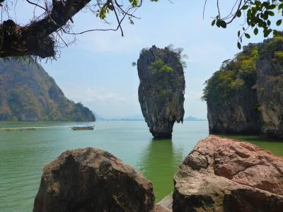 Plage de la THAILANDE à James Bond Phang Nga