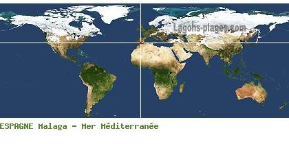 Carte Espagne Avec Plages.Carte Des Plages De Malaga Mer Mediterranee