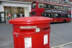 Londres, boite aux lettres rouges