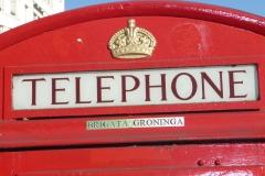 Londres, cabine téléphonique rouge