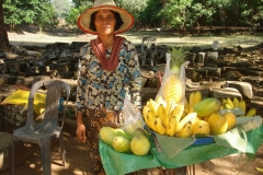 Cambodge, vendeuse de fruits