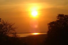 Cambodge, coucher de soleil