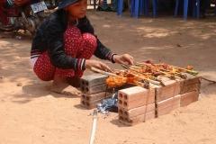 Cambodge, brochettes