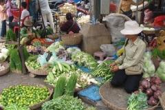 Cambodge, marché, légumes
