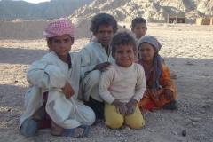 Hurghada, Egypte, désert, enfants