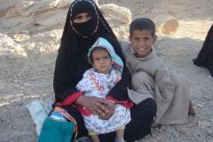 Hurghada, Egypte, désert, famille