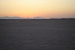 Hurghada, Egypte, désert, coucher de soleil