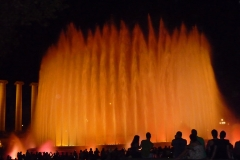 Espagne, Barcelone, Fontaine magique de Montjuïc