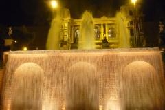 Espagne, Barcelone, Fontaine de Montjuïc