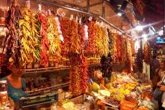 Espagne, Barcelone, fruits, piments