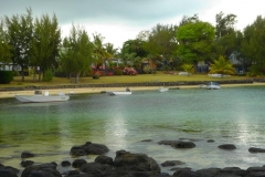 Ile Maurice, Cap Malheureux, baie, bateau
