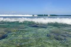 Ile Maurice, barrière de corail à Flic en Flac
