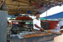 Bombay, Mumbai, Inde, brochette
