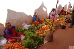 Goa, Inde, fruit, femme, légume
