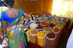 Goa, Inde, vendeur, épices