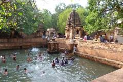 Pattadakal Aihole, Inde, bain