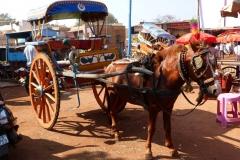 Pattadakal Aihole, Inde, calèche
