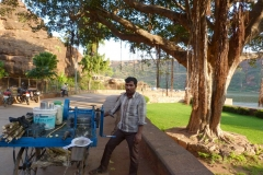 Pattadakal Aihole, Inde, canne à sucre