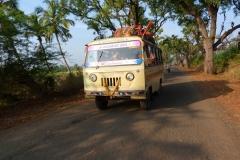 Pattadakal Aihole, Inde, bus