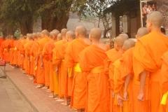 Laos, moines bouddhistes