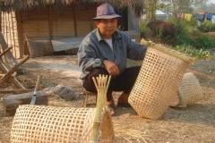 Laos, vannerie