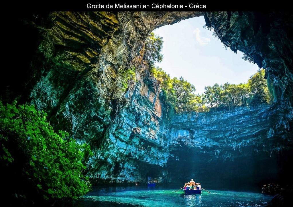 Grotte de Melissani en Grèce