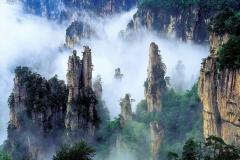 Montagnes, Tianzi, Chine