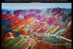 Montagnes, Zhangye Danxia, Chine