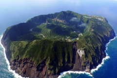 Volcan, Aogashima, Japon
