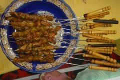 Maroc, Grand sud, brochettes, cabri, chêvre