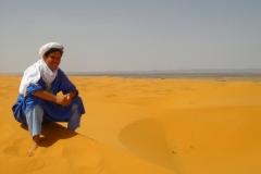 Maroc, Grand sud, Dune de Merzouga, touareg