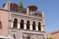 Maroc, Marrakech, café, terrasse