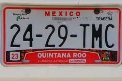 Mexique, plaque immatriculation