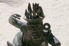 Mexique, Tulum, Statue inca