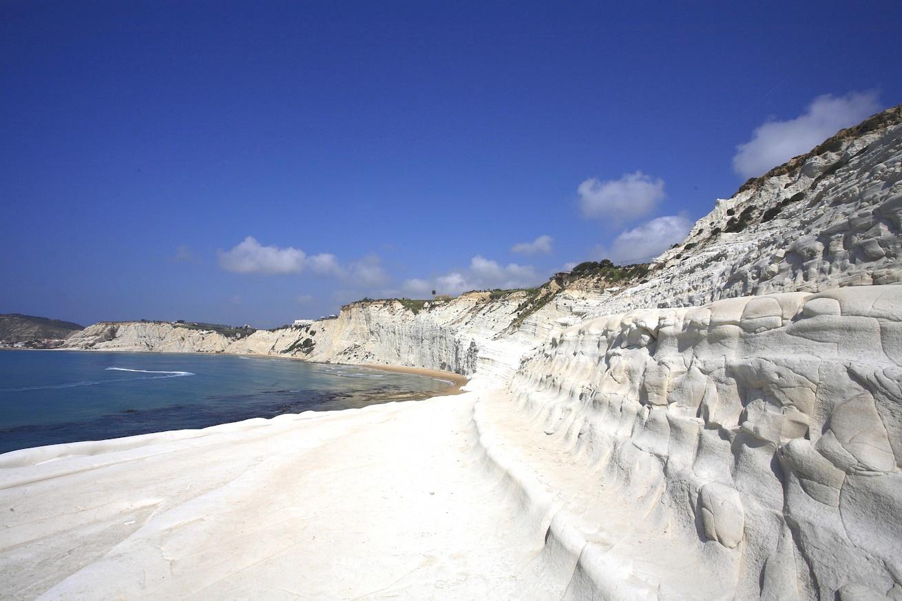 Plage toute blanche, Escaliers des turcs, Agrigento, Italie