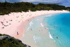 Plage de sable rose, Horseshoe, Warwick, Bermudes
