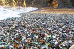 Plage, Glass beach, Fort Bragg, Californie, USA