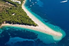 Plage Zlatni Rat, île de Brac, Bol, Croatie