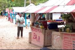bar, plage, Caya Levantado, Samana, Baie, République Dominicaine, Caraïbes